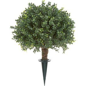 """15"""" Boxwood Sphere with Ground Stake"""